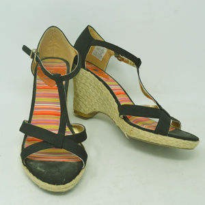 Rocket Dog Women's Black & Multicolor Wedges